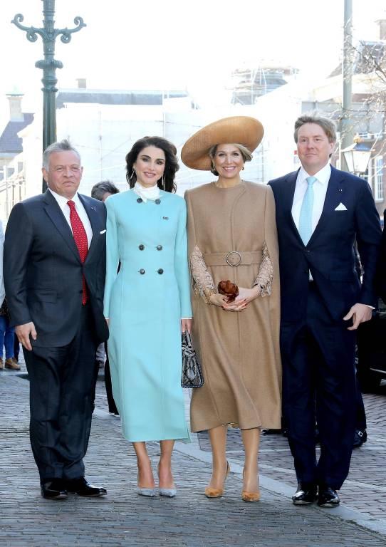 Alte Freunde: König Abdullah und Königin Rania kennen das niederländische Monarchenpaar seit Jahren    Foto: imago/PPE