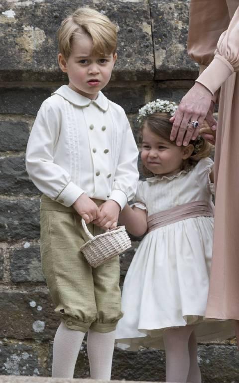 So zuckersüß sahen George und Charlotte bei der Hochzeit von Tante Pippa aus.  ©imago/Starface