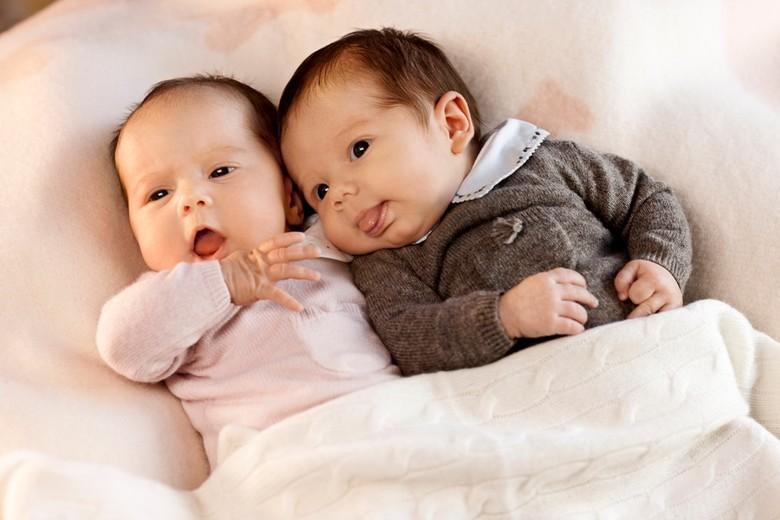 So goldig waren Josephine und Vincent wenige Tage nach ihrer Geburt.  Foto: Det danske Kongehus, Steen Brogaard