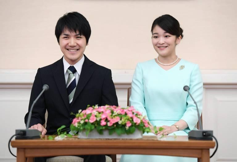 Prinzessin Mako und der bürgerliche Kei Komuro sind bereits seit über sechs Jahren ein Paar. Sie lernten sie an der Uni kennen.  ©imago/Kyodo News