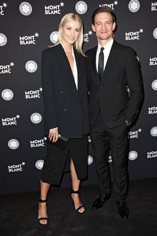 Sie wären ein hübsches Paar, sind es aber nicht: August Wittgenstein und Lena Gercke bei bei der Verleihung des 27. Montblanc de la Culture Arts Patronage Award. ©imago/Future Image