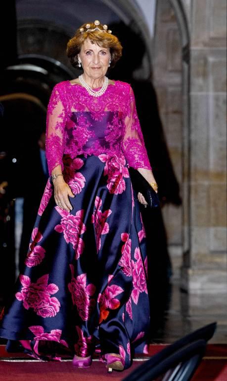 Auch Prinzessin Margriet wurde beim Gala-Dinner zum Blickfang.  ©imago images / PPE