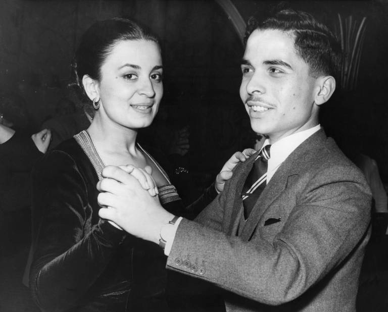 Die arrangierte Ehe zwischen Prinzessin Dina und ihrem entfernten Cousin König Hussein hielt nur zwei Jahre. 1970 heiratete sie erneut.  © imago images / United Archives International