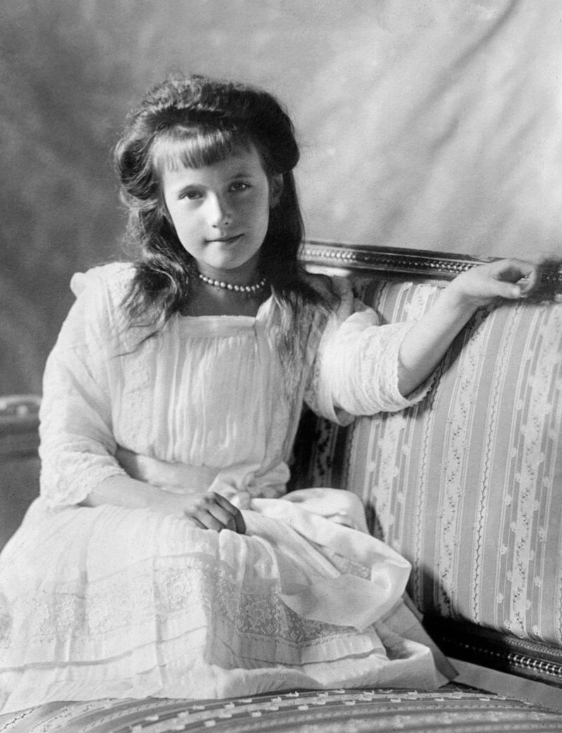 Anastasia, das Mädchen mit dem engelsgleichen Gesicht, soll eiskalt von den Bolschewiken ermordet worden sein. © Gemeinfrei