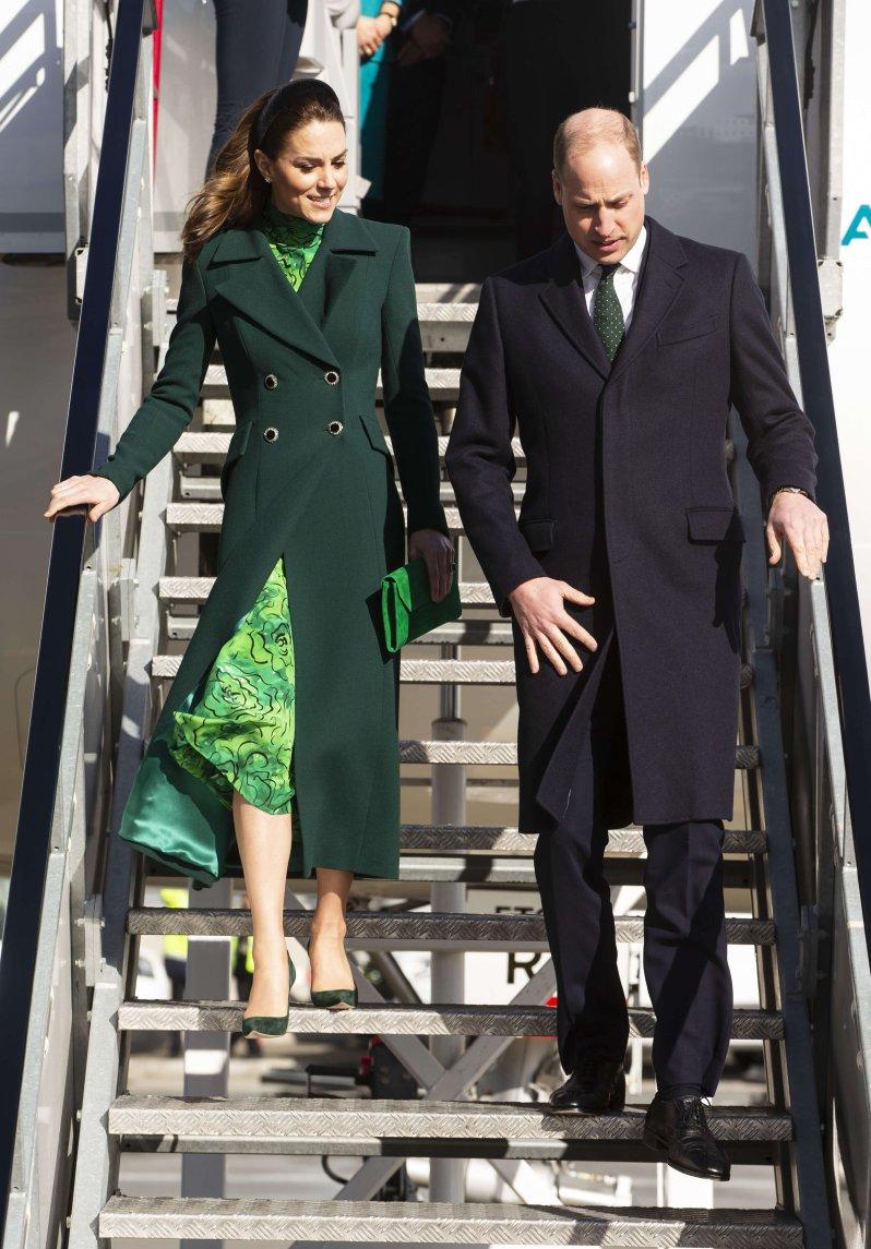 Herzogin Kate und Prinz William sind auf offizieller Reise in Irland unterwegs und setzen auf die Landesfarbe Grün. © picture alliance / empics