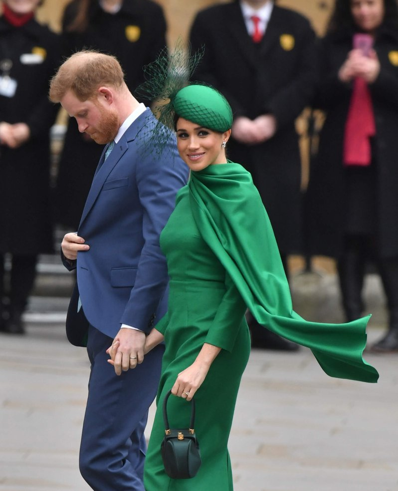Ein letztes Mal im Rampenlicht als Royals: Prinz Harry und Herzogin Meghan auf ihrem Weg zum Gottesdienst in die Westminster Abbey. © picture alliance / empics