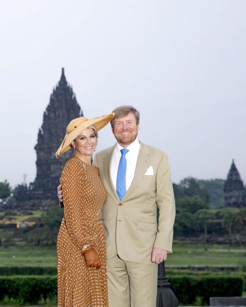 """Die kreative Aktion von """"Tussen Kunst & Quarantaine"""" wird sicher auch Königin Maxima und König-Willem-Alexander ein Lächeln entlocken. © picture alliance/RoyalPress Europe"""