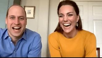 Per Videochat sprachen William und Kate mit Schülern und sorgten für gute Laune.  © KensingtonRoyal