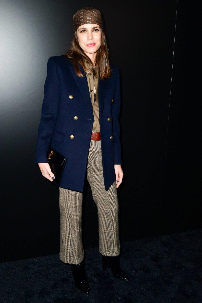 Charlotte Casiraghi beim Besuch der Modenschau von Saint Lauren im Februar 2020 in Paris. © picture alliance / abaca