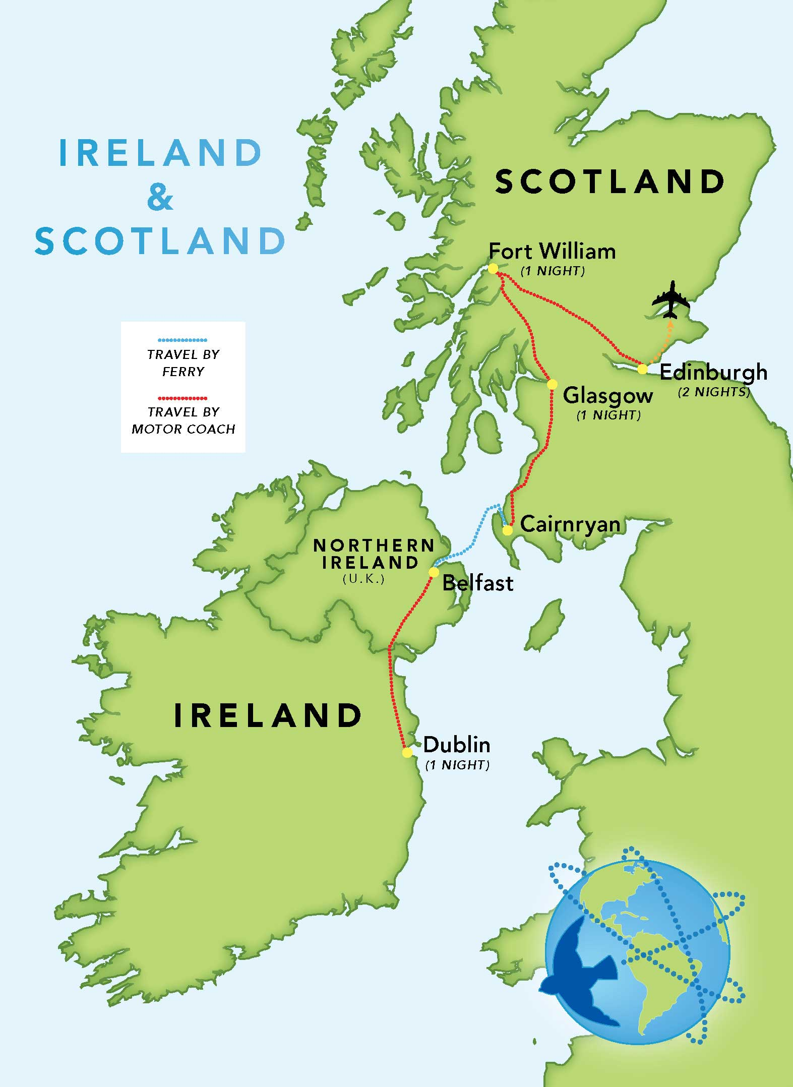 Map Of Scotland And Ireland : scotland, ireland, Ireland, Scotland, Bluebird, Guided, Tours