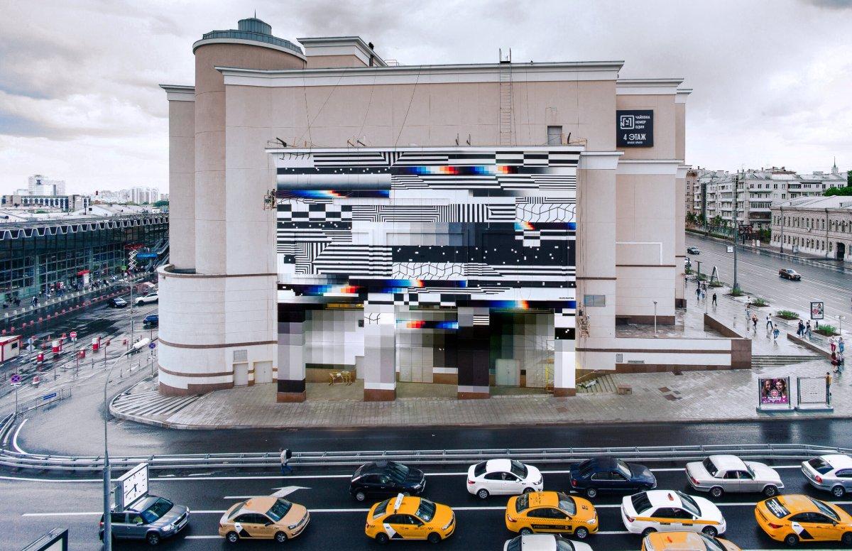 Futuristic Graffiti Glitches Mural - Felipe Pantone