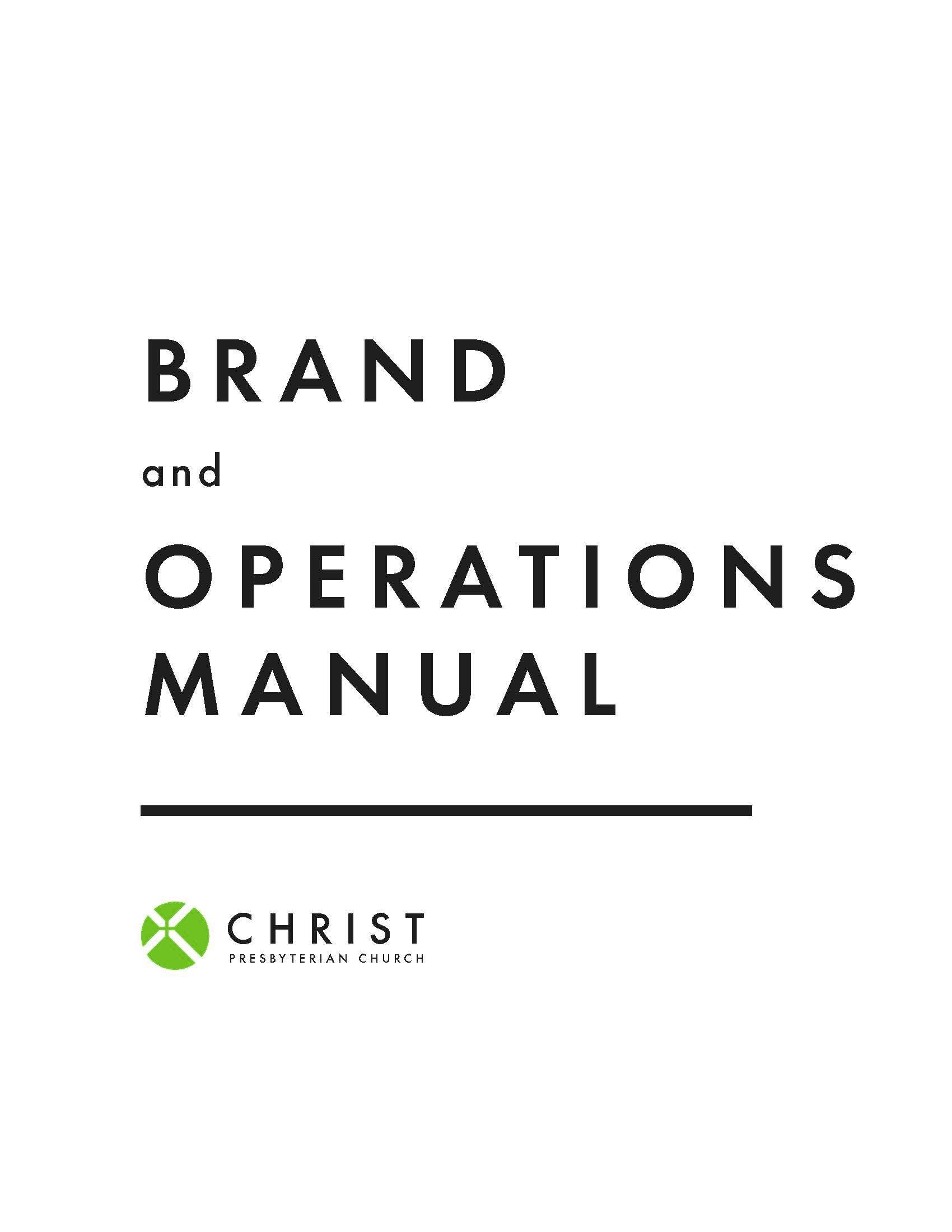 Brand Manual — Christ Presbyterian Church