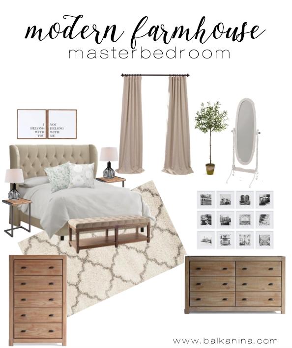 Modern Farmhouse Master Bedroom Inspiration Balkanina