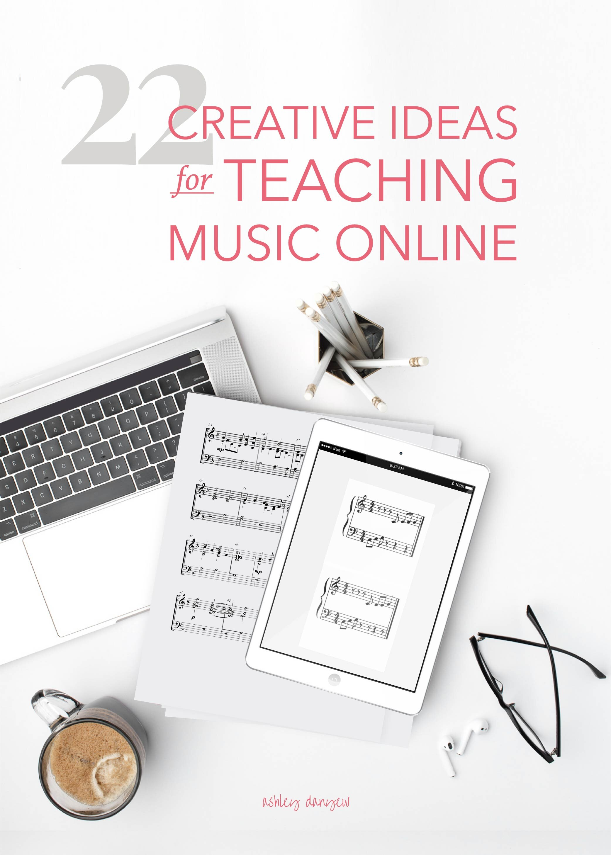 22 Creative Ideas for Teaching Music Online (for All Ages)   Ashley Danyew [ 2917 x 2084 Pixel ]