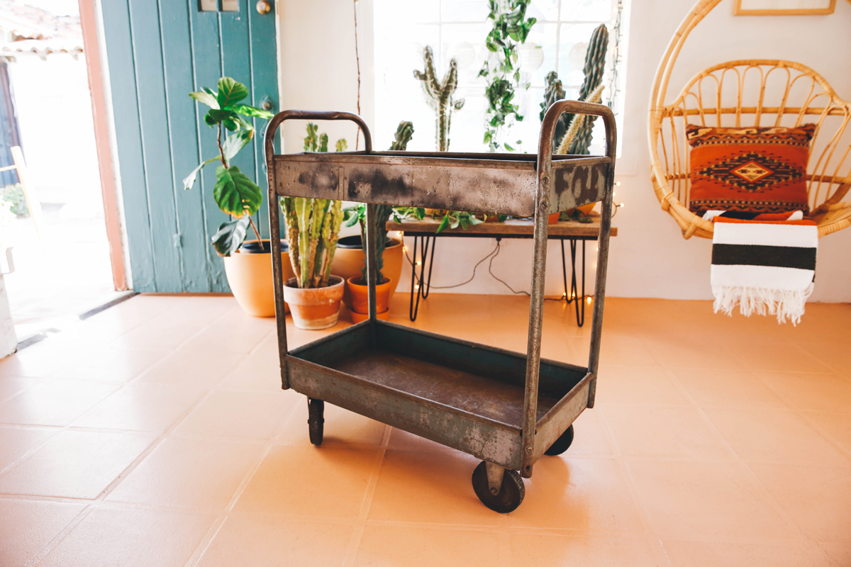 antique industrial cart thick