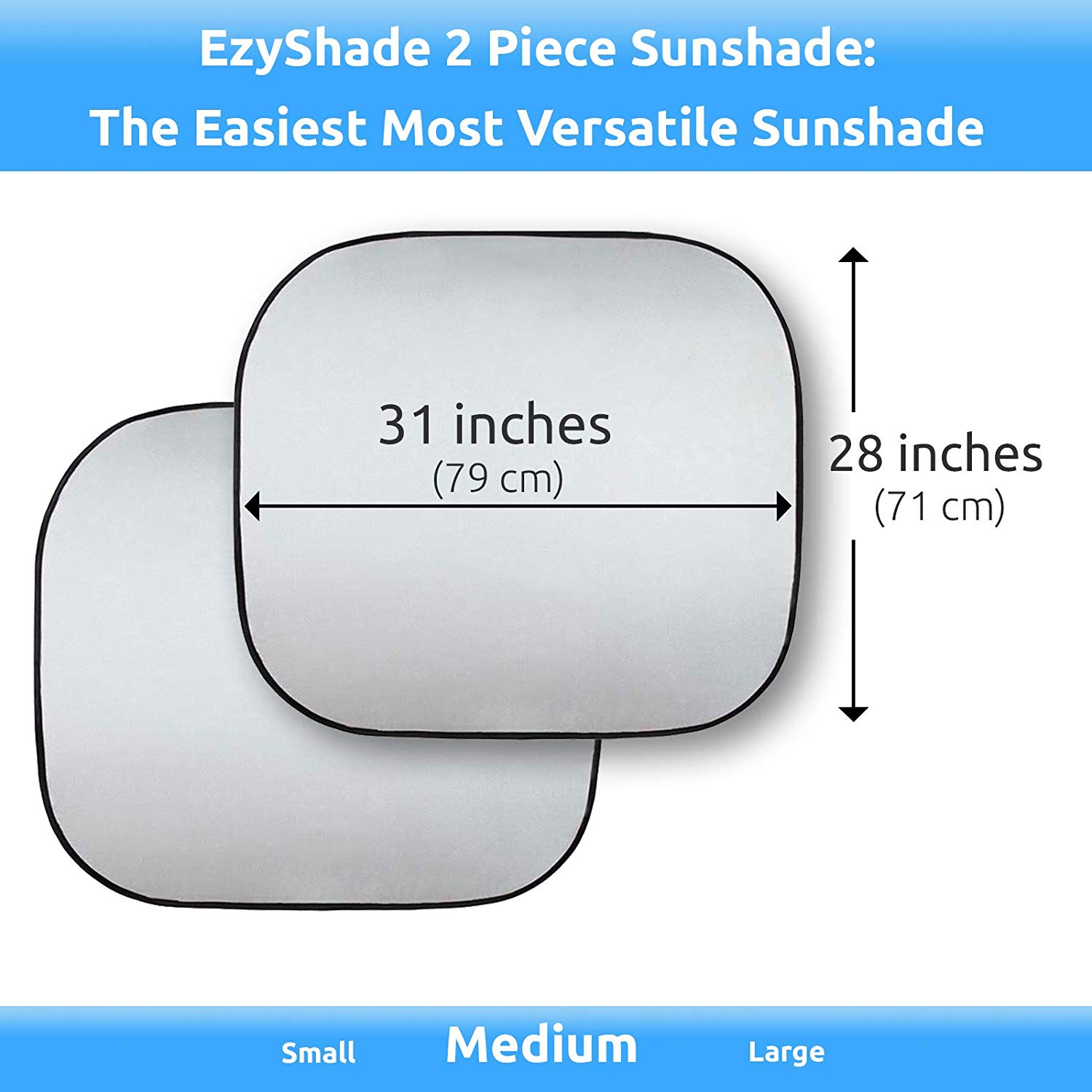 hight resolution of see selection chart with your vehicle easy read hassle free car sunshades keep your vehicle cool uv sun and heat reflector standard medium size
