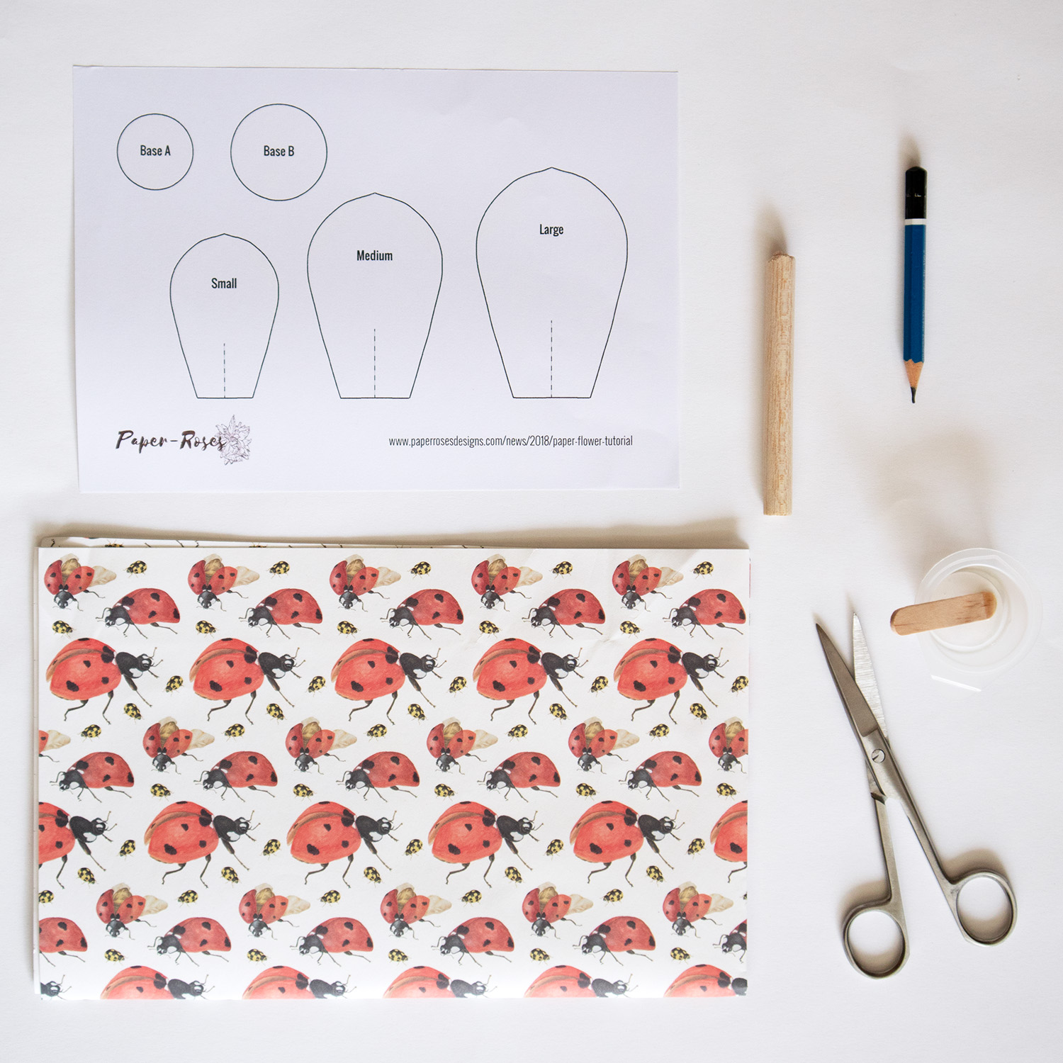 Paper Flowers Free Printable Template Paper Roses
