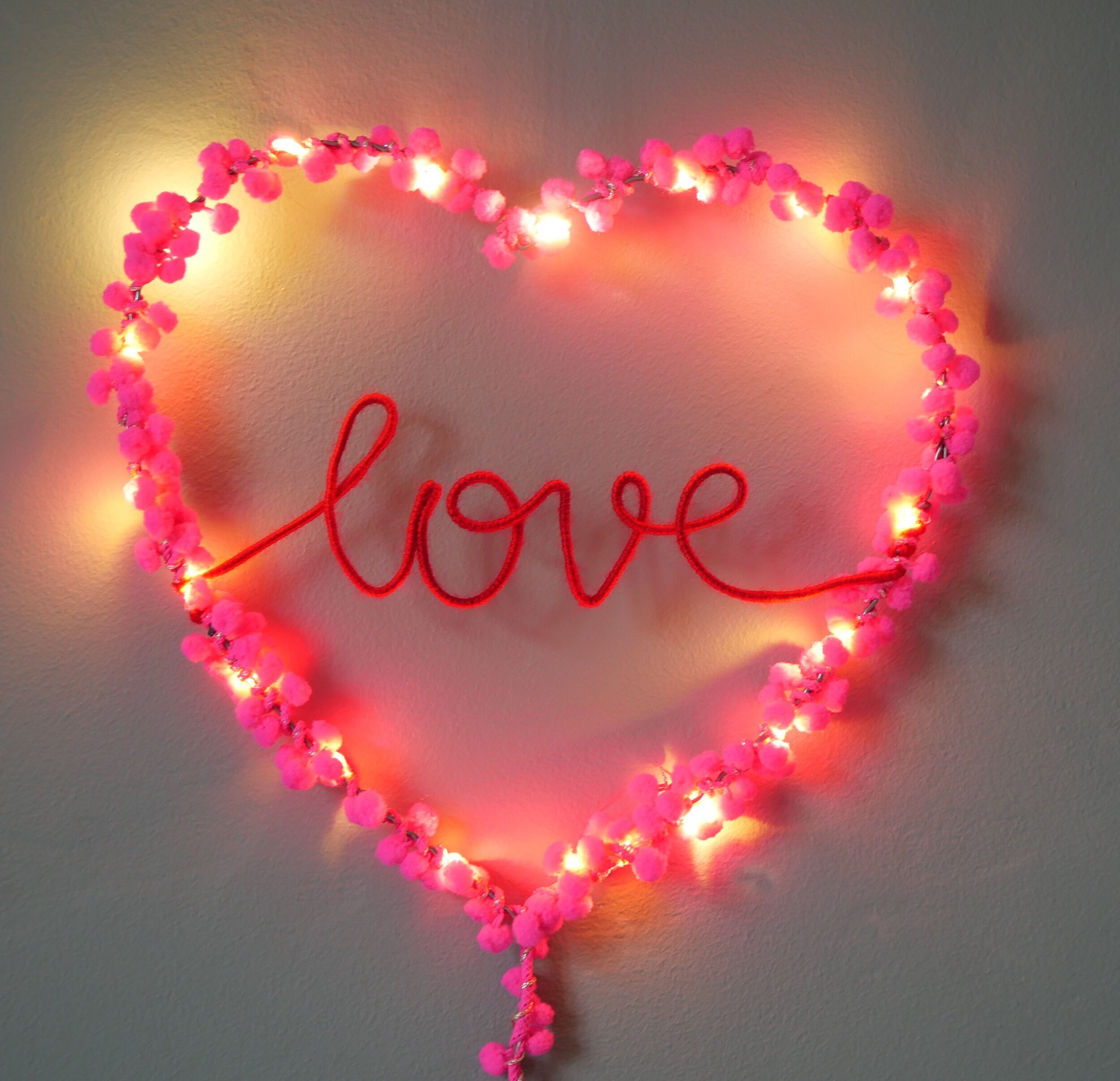 Love Fairy Light Heart Melanie Porter Handcrafted Personalised Fairy Lights And Upholstery
