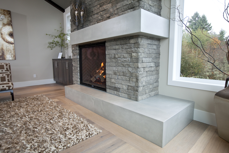 concrete fireplaces custom fireplace