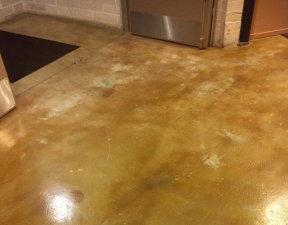 removing carpet glue before acid