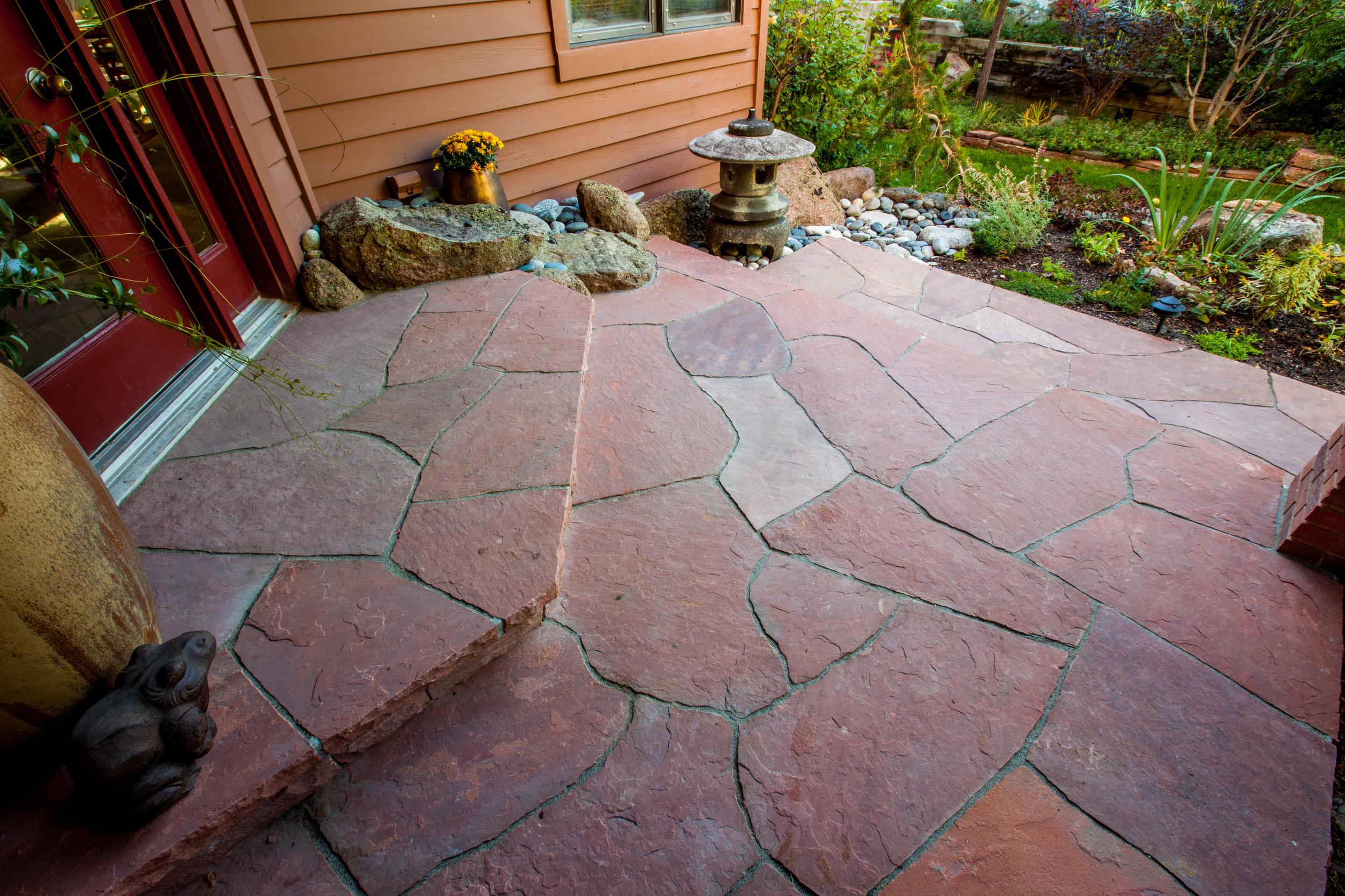 flagstone patio rock patio designs