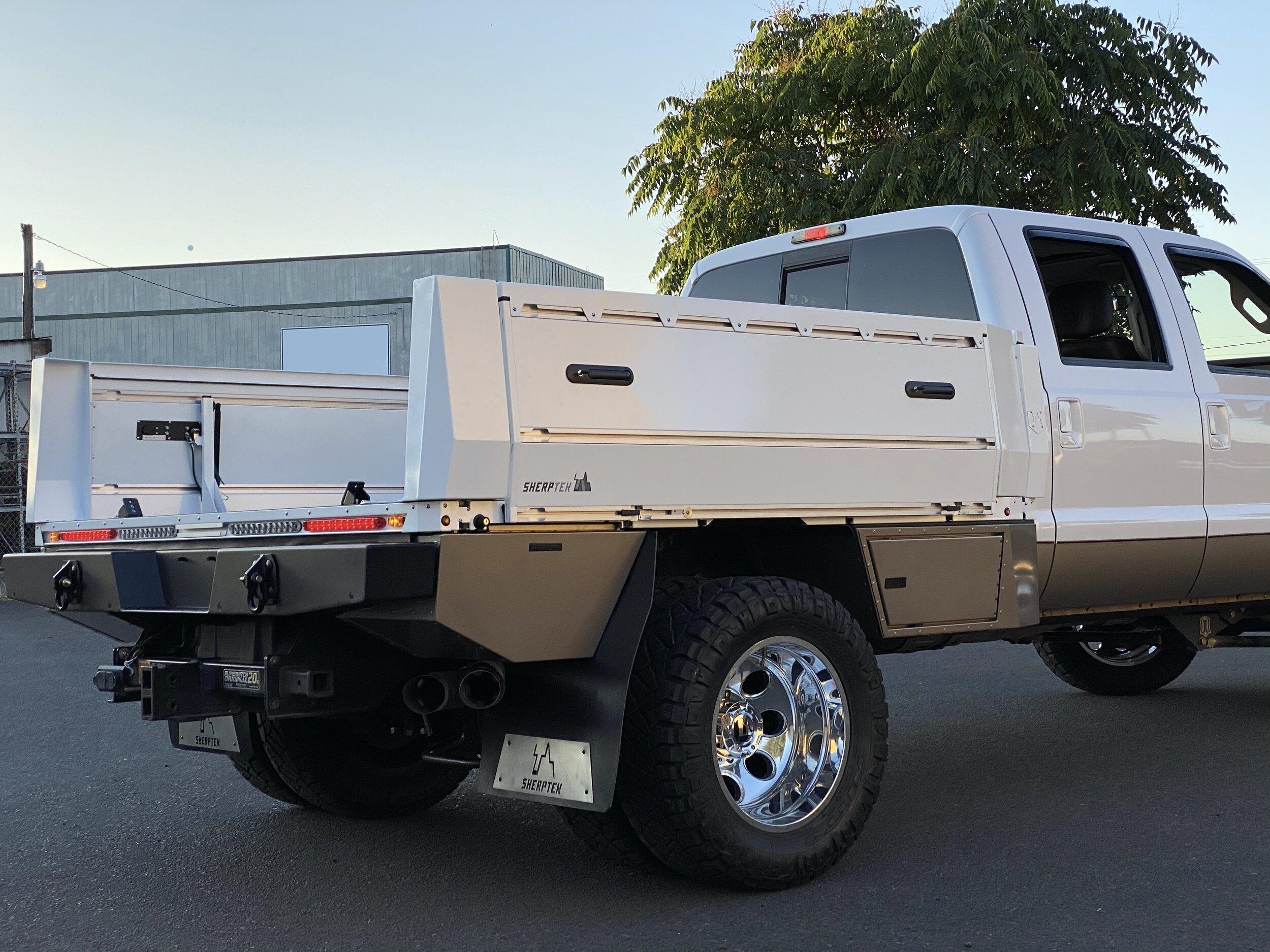 Custom Truck Beds Sherptek Sherptek Custom Gear Hauling Solutions Flatbeds Truck Decks And Truck Trays