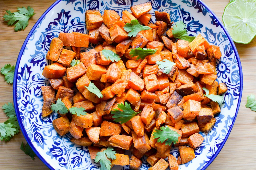 sweet potatoes with ginger, coriander and cumin