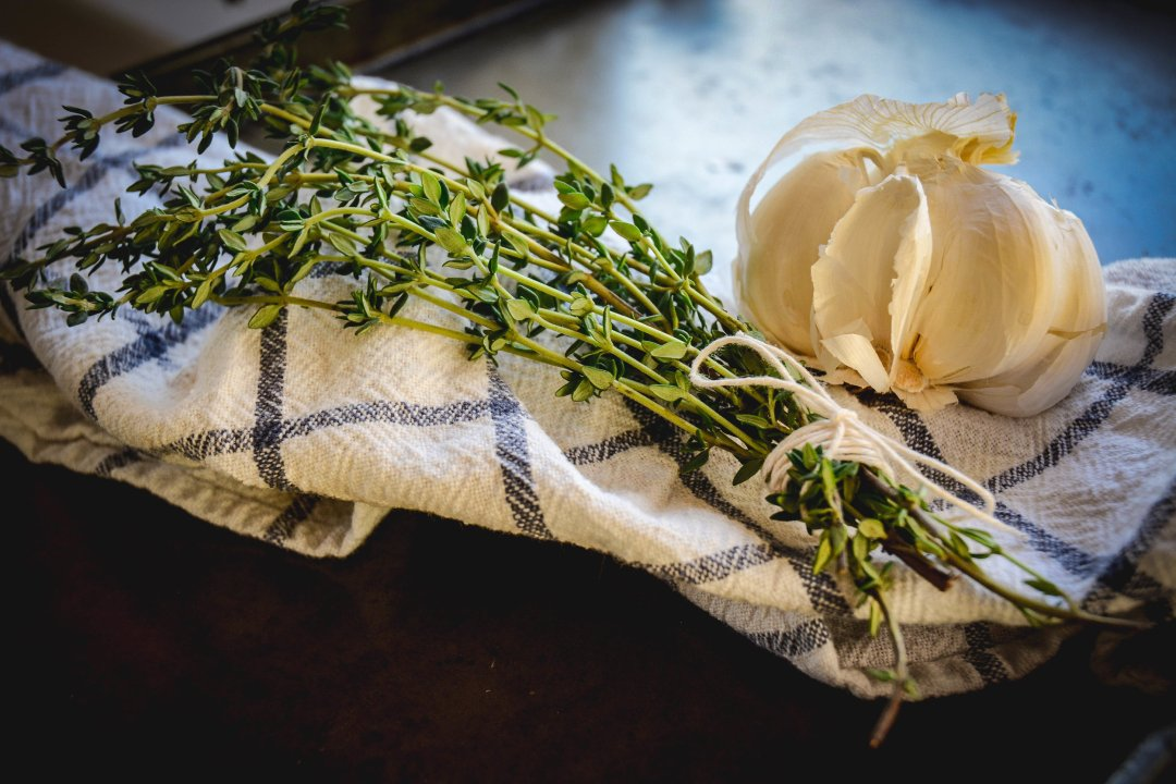 thyme and garlic