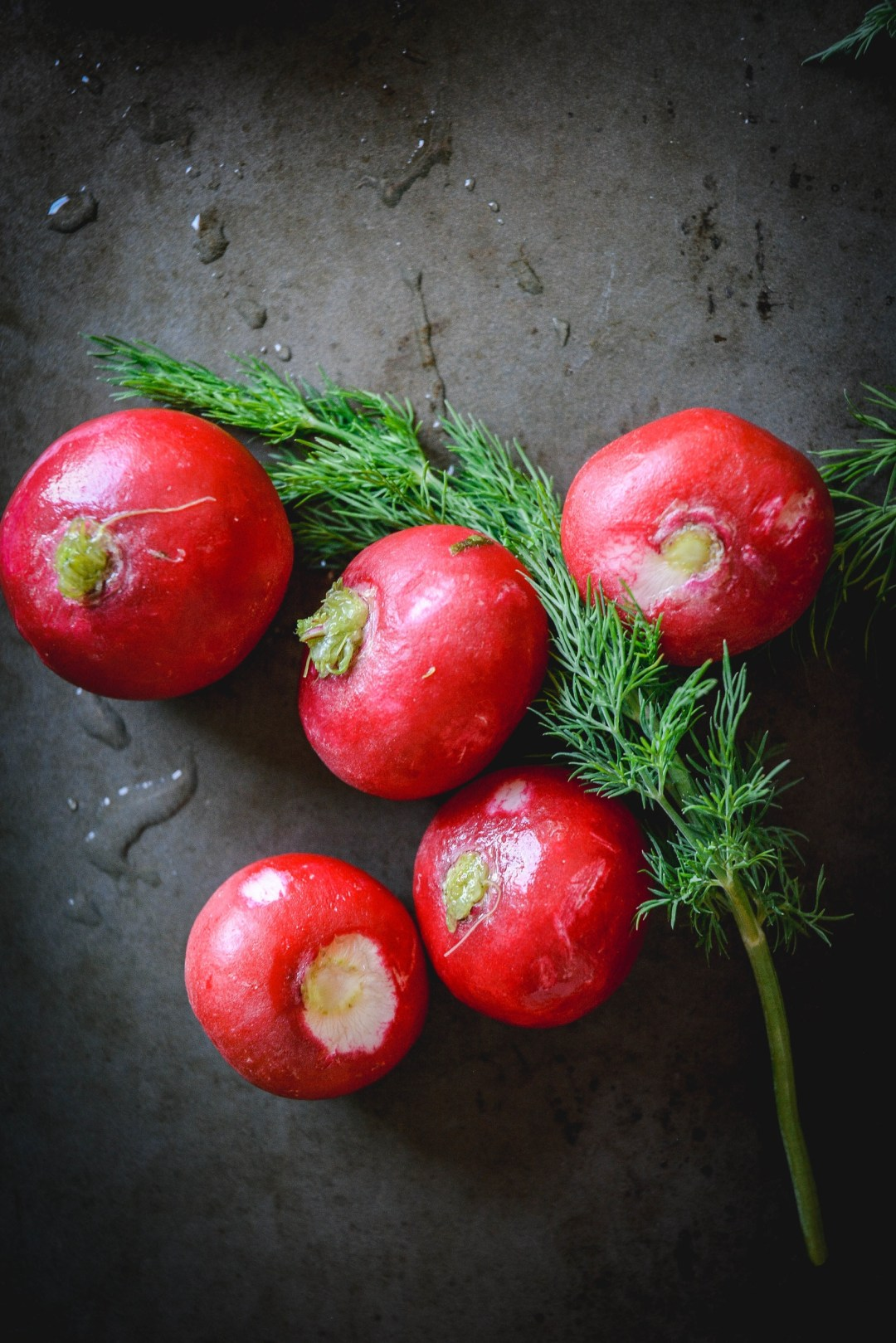 radishes with dill sprig
