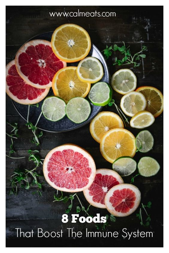 Cold and flu season is among us but there are very simple and practical things you can do to keep your system strong particularly through nutrition. Check out these amazing 8 foods that help to strengthen your immune system. #nutrition, #calmeats, #immunesupport, #immunesystem, #coldseason, #foodismedicine #citrus, #vitamins, #immunesystem