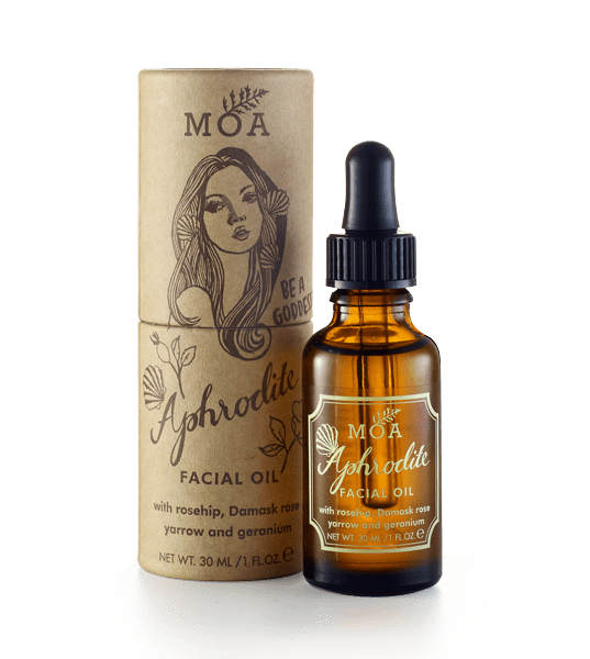 With rosehip, yarrow, damask rose and geranium   A magical blend for radiant skin; this easily absorbed beautifying facial oil helps to smooth fine lines and ward off premature ageing with its nourishing rosehip oil base. Rosehip oil is rich in vitamin A, C and essential fatty acids, its natural skin regenerative properties have been revered in folklore over the centuries all across the globe.  Enriched with precious Damask rose essential oil, especially helpful for dry, sensitive skin types prone to redness and blemishes. Organic yarrow essential oil helps to even skin tone, fragrant rose geranium balances and cleanses, whilst marshmallow extract gently soothes and calms the skin.