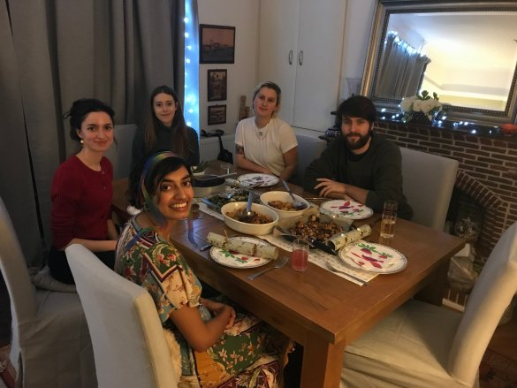 Image courtesy of Ameera | Anita, Becca, Chloe and Dan who made me a Christmas dinner that would be good for my tummy.