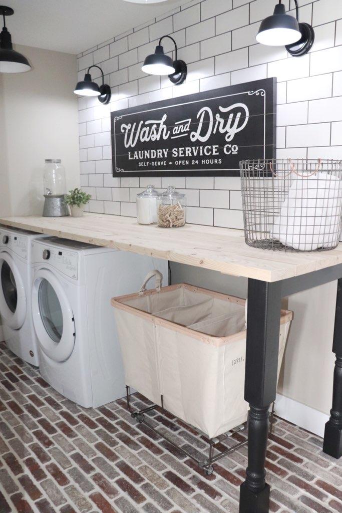 laundry room backsplash update with