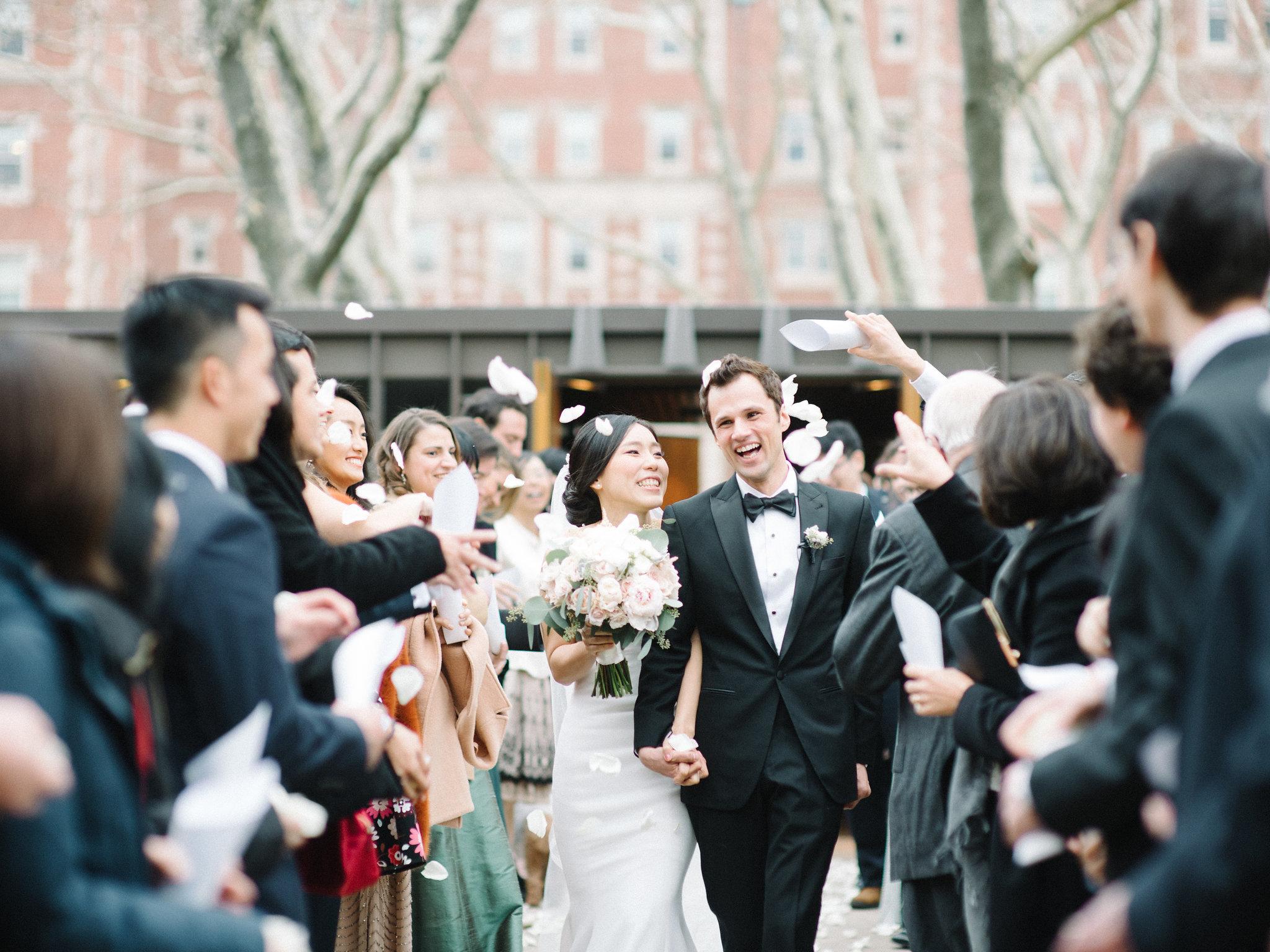 an elegant wedding at mit in historic