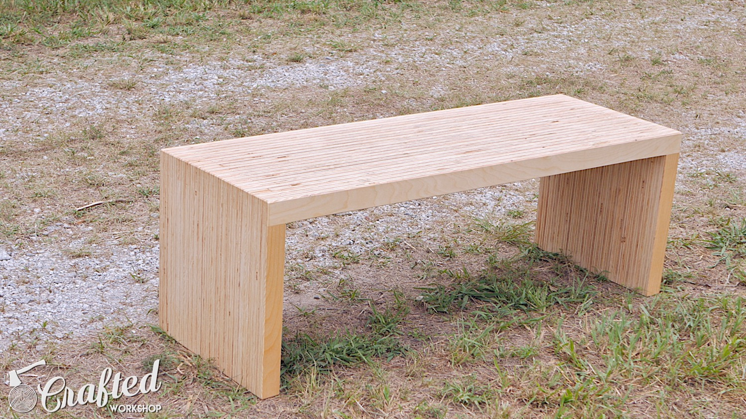 diy plywood coffee table made with one