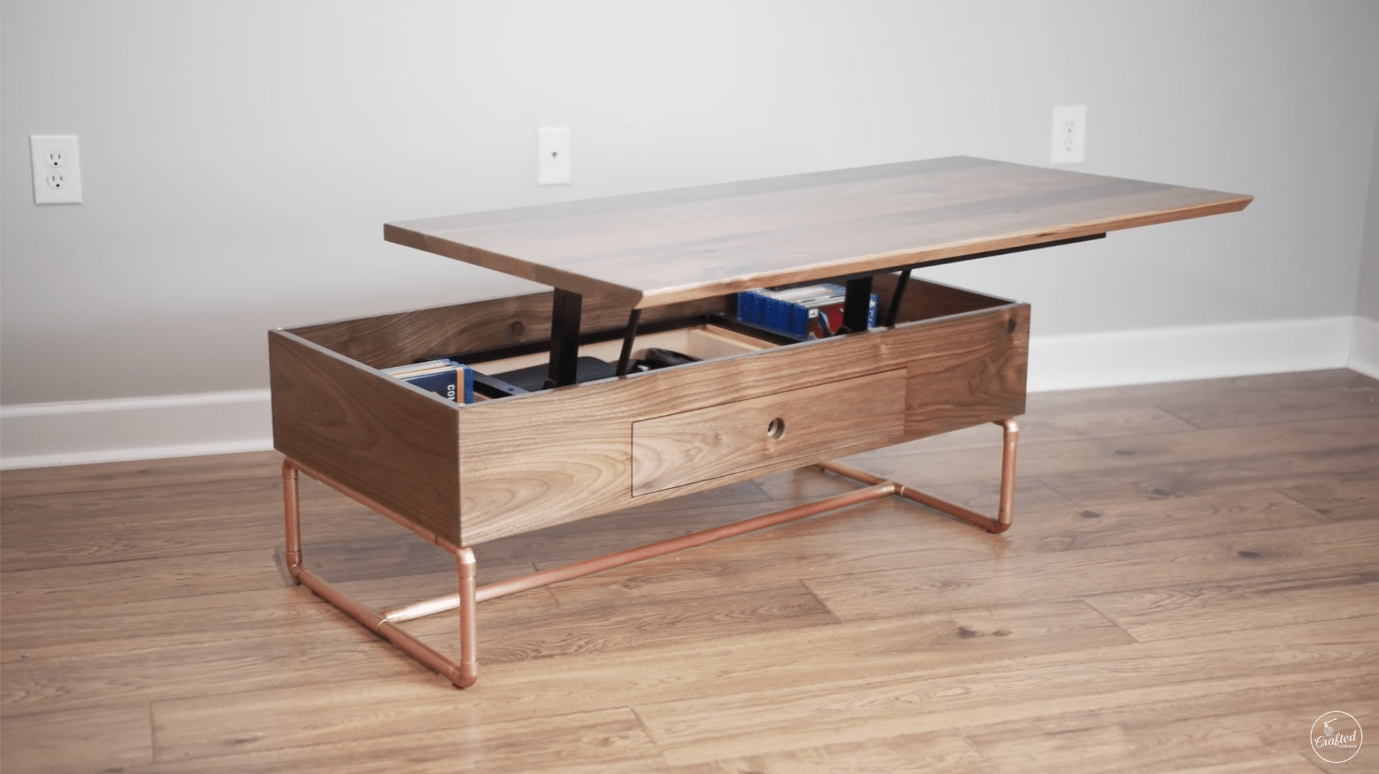 lift top coffee table with storage plans crafted workshop