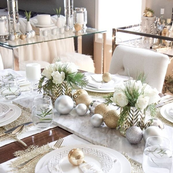 15 Ideas For Stylish Christmas Table Decorations
