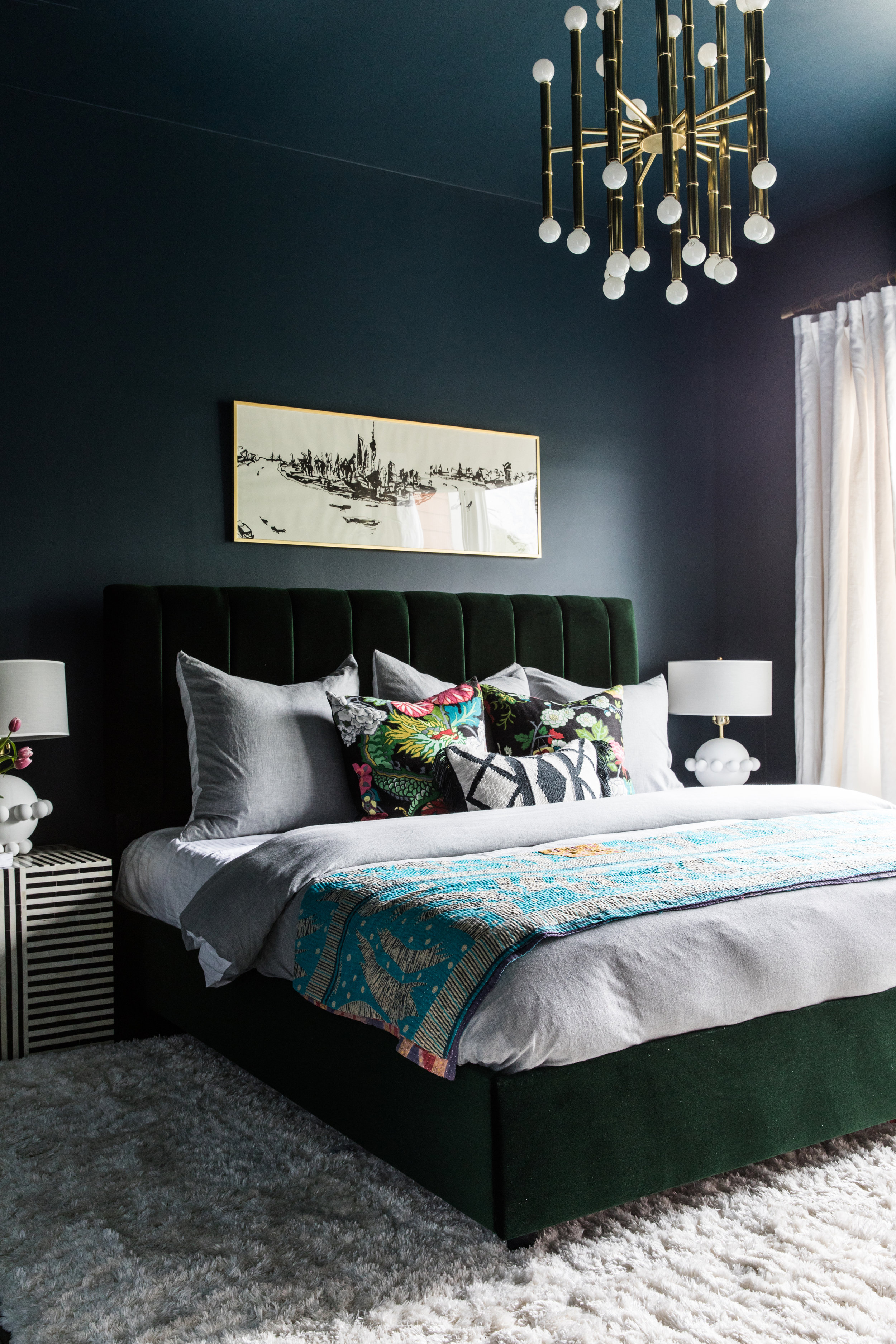 Dark Emerald Green Paint : emerald, green, paint, Drenched, Moody, Paint, House, Nomad