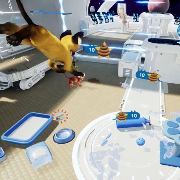 The kittens are ruining my spaceship! #ue4 #gamedev #unrealengine #indiedev #indiegame #indiegamedev #oculus #HTCVive #vive #cat