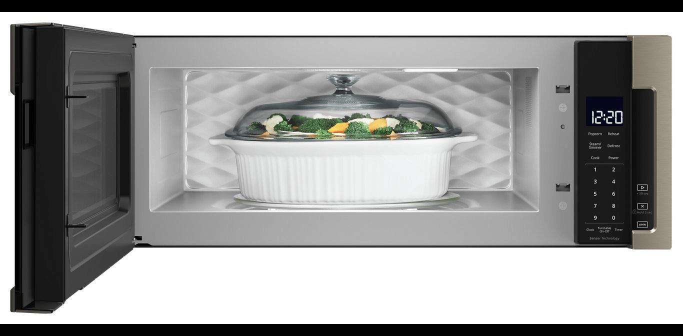 low profile microwave hood combination