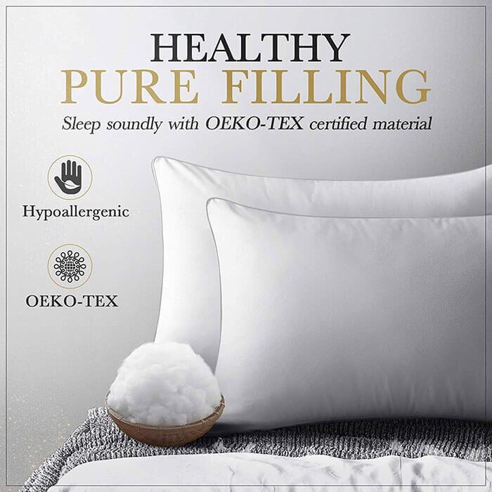 down alternative vegan friendly pillows