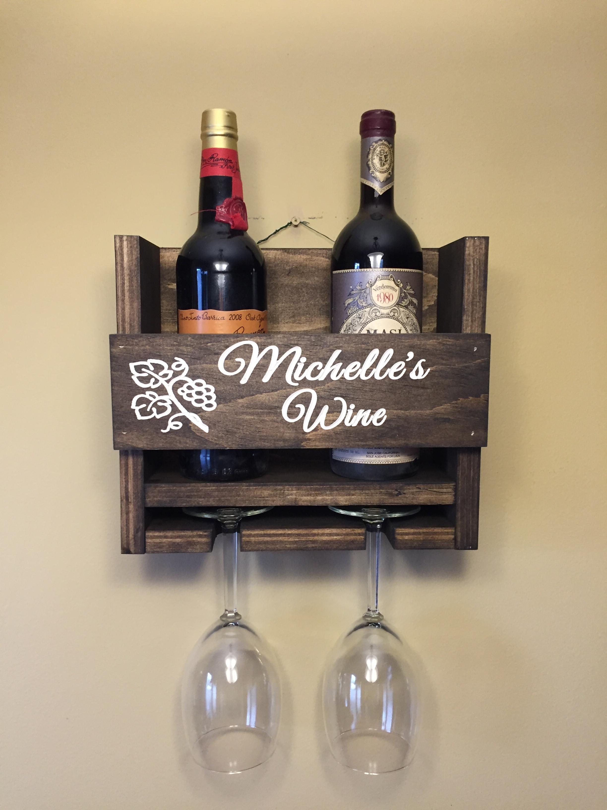 personalized wine rack 2 bottle wine rack upstate woodwork