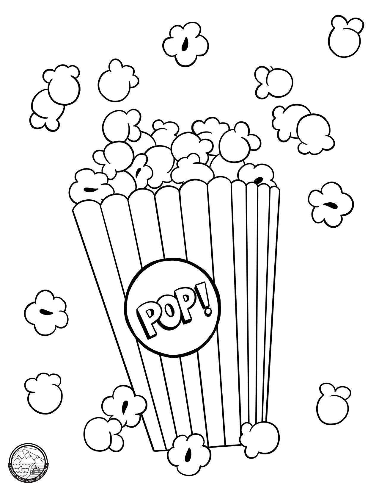 Popcorn Colouring Pages : popcorn, colouring, pages, Color, Adventure