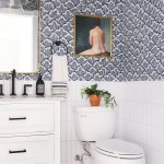 A Bold Classic Whimsical Coastal Modern Powder Room Sunny Circle Studio
