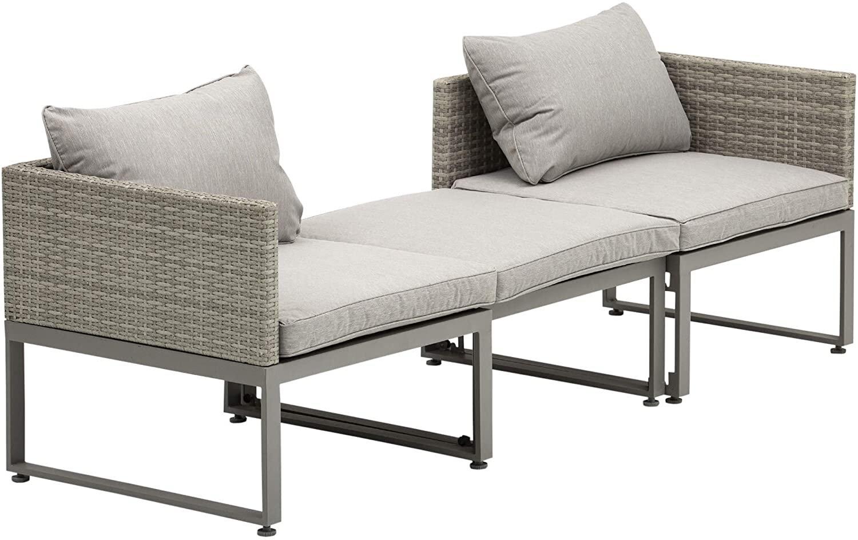 outsunny rattan wicker adjustable sofa coffee table set outdoor garden patio furniture mh star