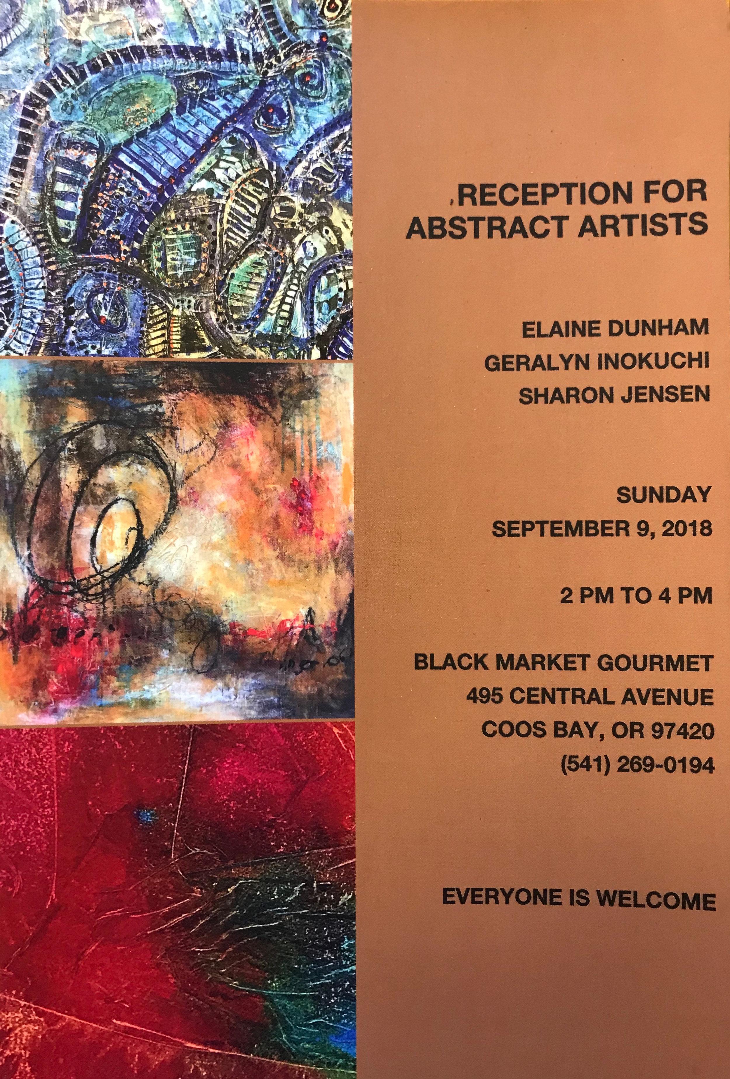 abstract art show at