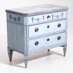 12700 5d Charming Gustavian Style Chest Richly Carved With