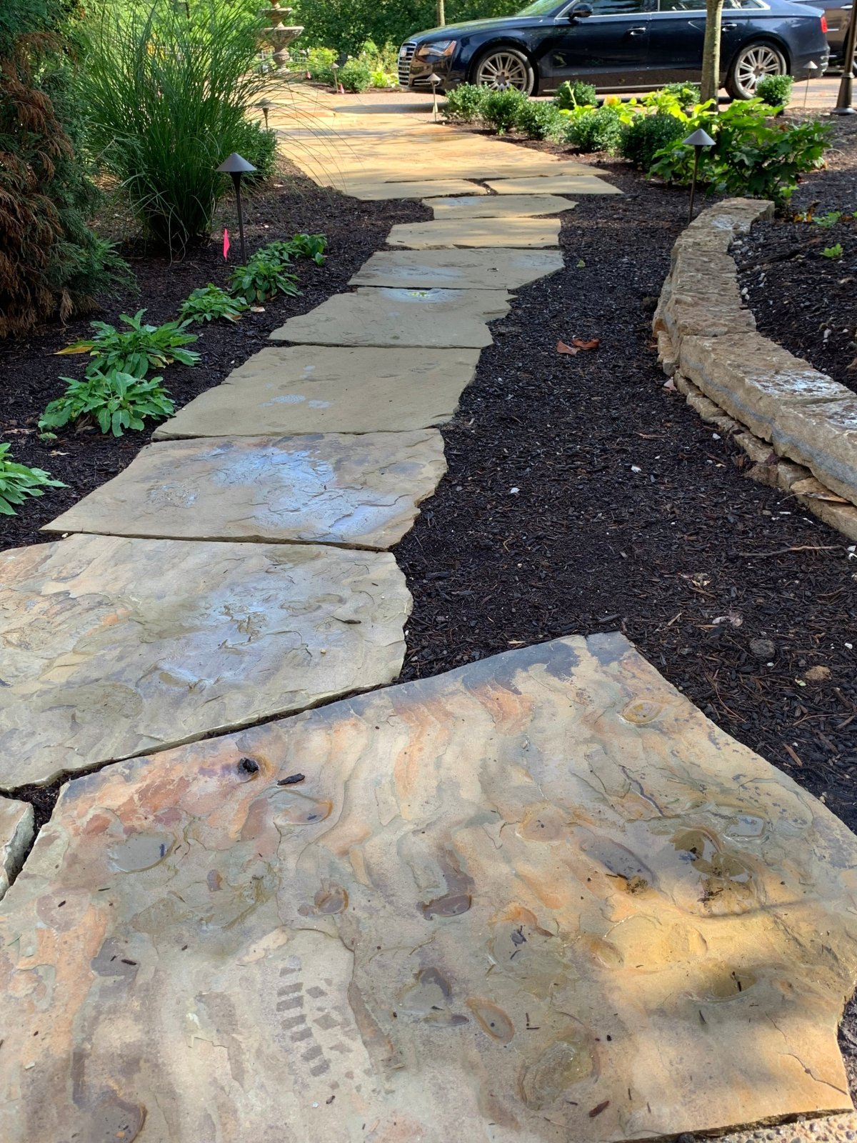 flagstone steps ideas
