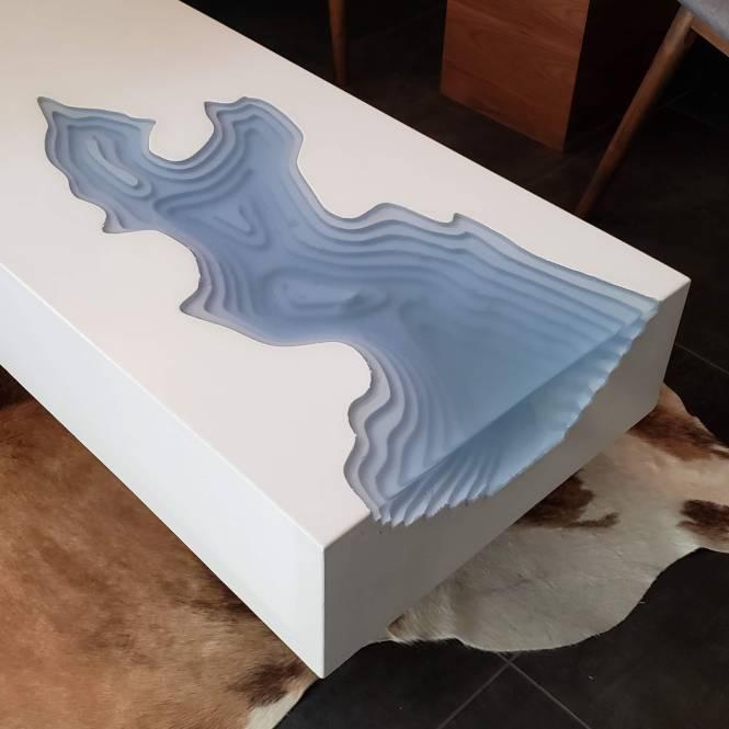 Arctic Erosion Coffee Table