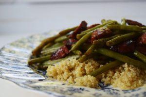 4 Ingredient Balsamic Beef & Quinoa Stir Fry